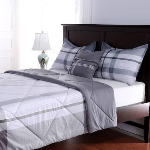 Lodge Plaid 5-piece Comforter Set