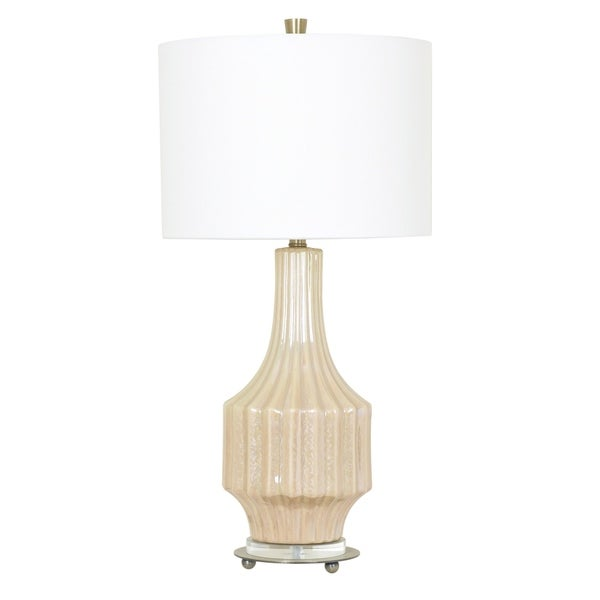 Crown Mark Cream Pearl 32.5-inch Table Lamp