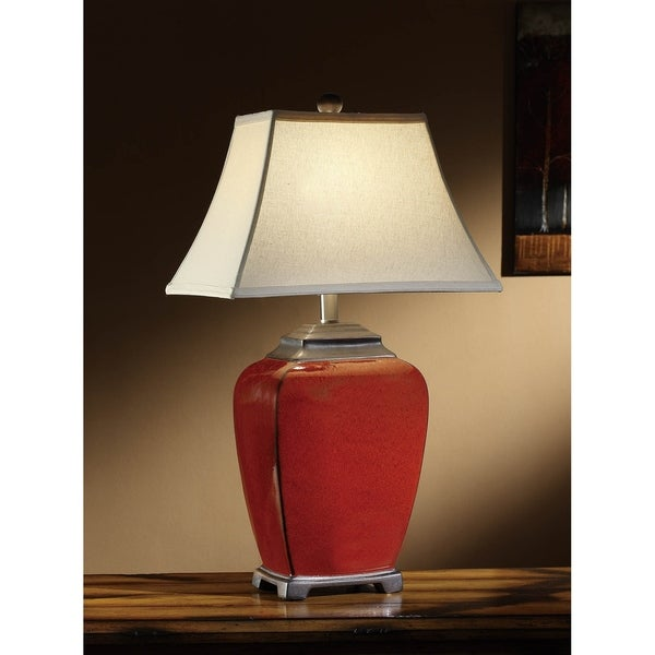 Raina Red 28-inch Table Lamp