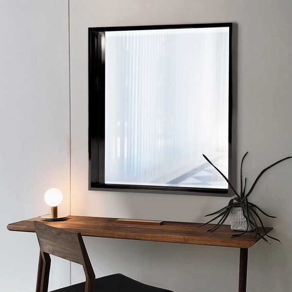 Isa Black Wall Mirror