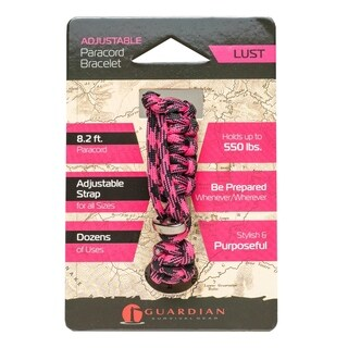 Guardian Adjustable Paracord Bracelet (Lust) - Case of 36