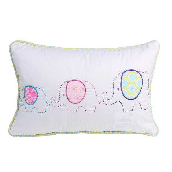 Three Elephants Decorative Throw Pillow