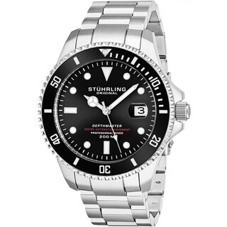"Link to Stuhrling Original Men's Swiss Automatic Stainless Steel Professional ""DEPTHMASTER""  Dive Watch, 200 Meters Water Resistant Similar Items in Men's Watches"