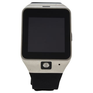 EK-D1 Montre Connectee Silver/Black Silicone Strap Smart Watch