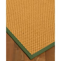 Natural Area Rugs Vienna Beige/Green Sisal Handmade Contemporary Bordered Area Rug - 6' x 9'
