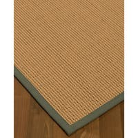 Natural Area Rugs Sonoma Stone/Brown Wool Handmade Contemporary Bordered Area Rug - 6' x 9'