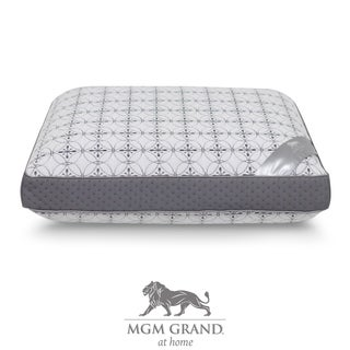 MGM Grand Hotel at Home Platinum Collection Gel Topped Cooling Memory Foam Pillow - grey/White