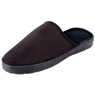 Men's Indoor Washable Solid Suede House Slippers