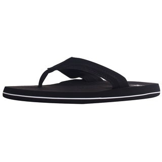 Men's Athletic Strap Poolside Casual Beach Flip Flop Sandals - Black, 9