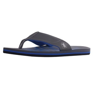 Men's Athletic Strap Poolside Casual Beach Flip Flop Sandals, Grey/Blue, 9 (More options available)