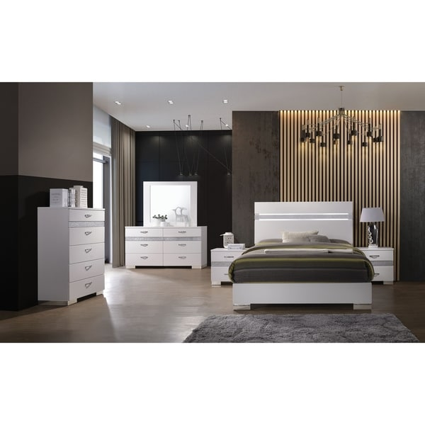 Shop Acme Adair 6 Drawer Dresser With Hidden Jewelry Drawer In White