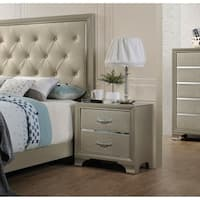 Acme Carine 2-Drawer Nightstand in Champagne