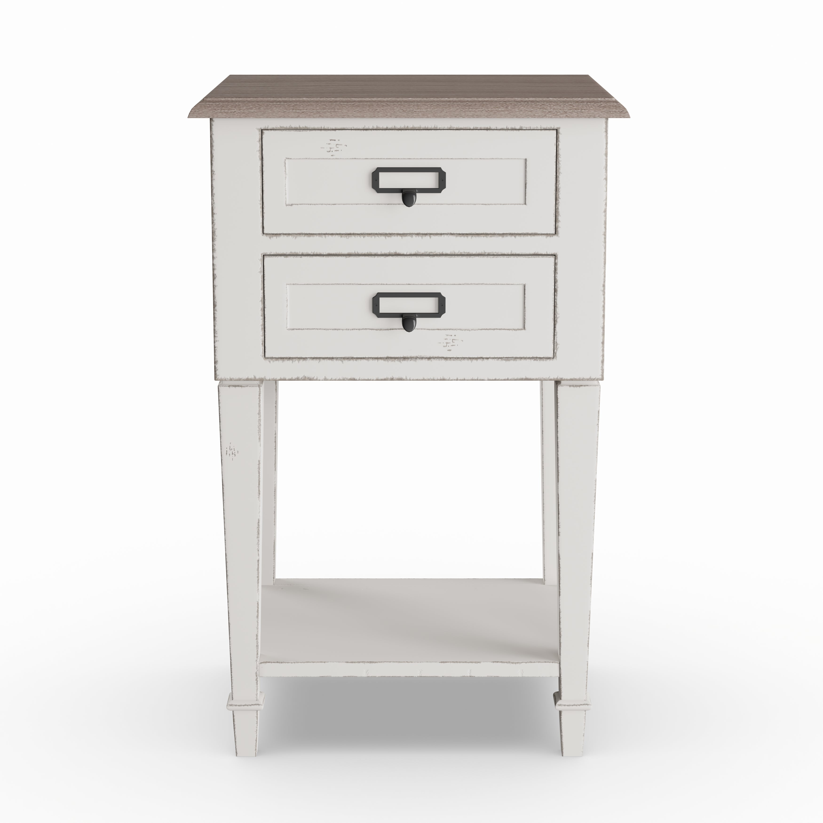 The Gray Barn Heart And Soil Weathered Oak White Wash Distressed Finish Wood Nightstand On Free Shipping Today 20543307