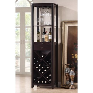 Copper Grove Carson Modern and Contemporary Dark Brown Wood Wine Tower