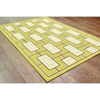 Carson Carrington Roskilde Green/Ivory Indoor/Outdoor Area Rug - 3'10 x 5'6