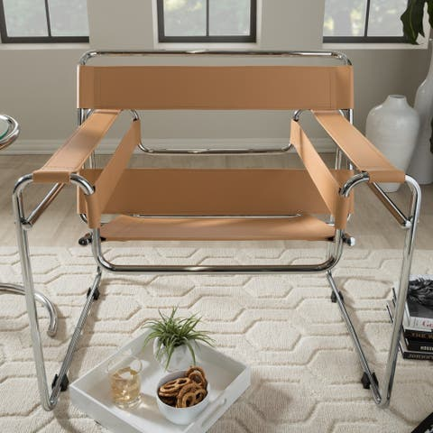 Strick & Bolton Saunders Tan Accent Chair