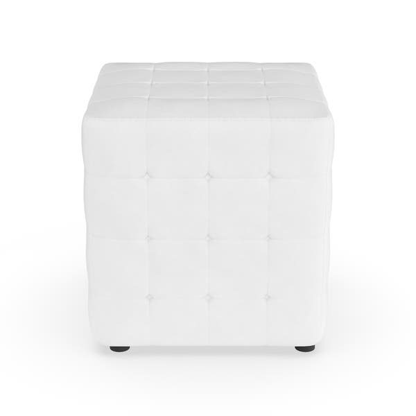 Brilliant Shop Porch Den Las Olas White Cube Ottoman Set Of 2 Creativecarmelina Interior Chair Design Creativecarmelinacom