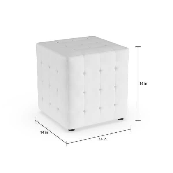 Groovy Shop Porch Den Las Olas White Cube Ottoman Set Of 2 Creativecarmelina Interior Chair Design Creativecarmelinacom