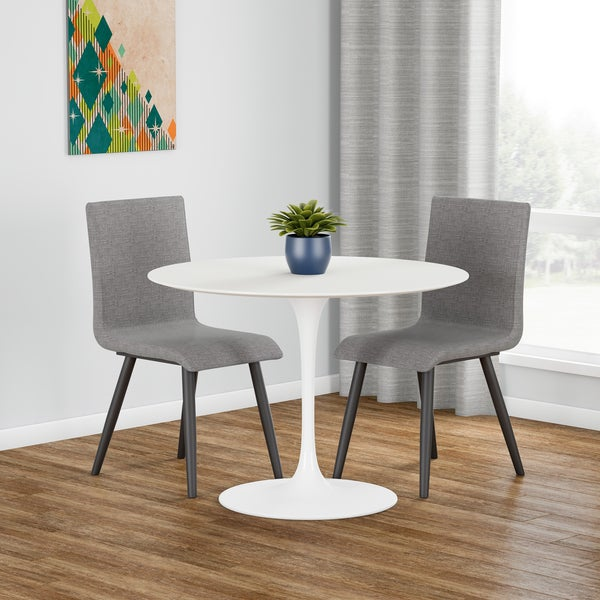 Carson Carrington Kirkkonummi 40 Inch Circular White Dining Table