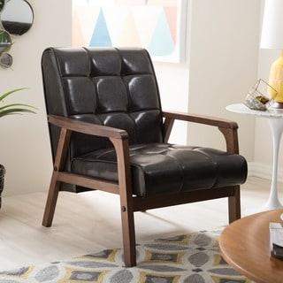 Carson Carrington Karkkila Mid-century Brown Club Chair