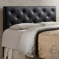 Laurel Creek Payton Contemporary Faux Leather Headboard