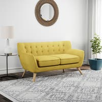 Carson Carrington Brandbu Button-tufted Loveseat