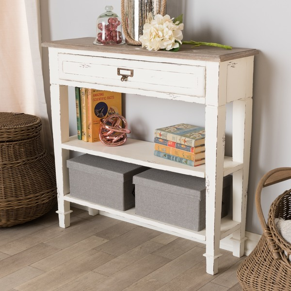 The Gray Barn Mead Grove French Accent White Console Table. Opens flyout.