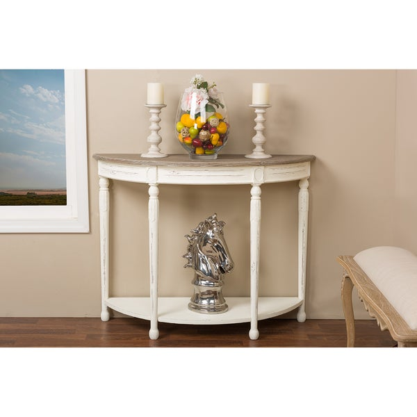 The Gray Barn Melody Fields Wood Traditional French Console Table