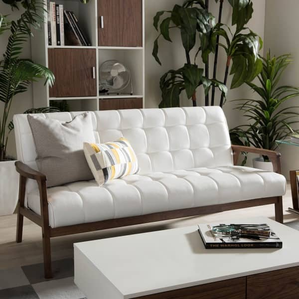 Collections Of White Leather Sofa Overstock
