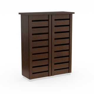 Porch & Den Nurmi Dark Brown 2-door Shoe Cabinet