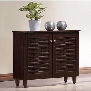 Strick & Bolton Vadym Dark Brown 2-door Shoe Cabinet