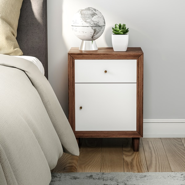 Carson Carrington Trollhattan Mid-century Single-drawer Nightstand