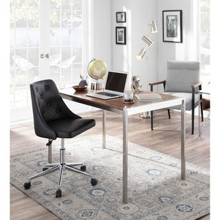 Carson Carrington Ockelbo Button-tufted Office Chair with Faux Leather