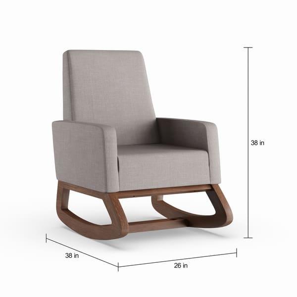 Prime Carson Carrington Honningsvag Mid Century Modern Grey Upholstered Rocking Chair Machost Co Dining Chair Design Ideas Machostcouk