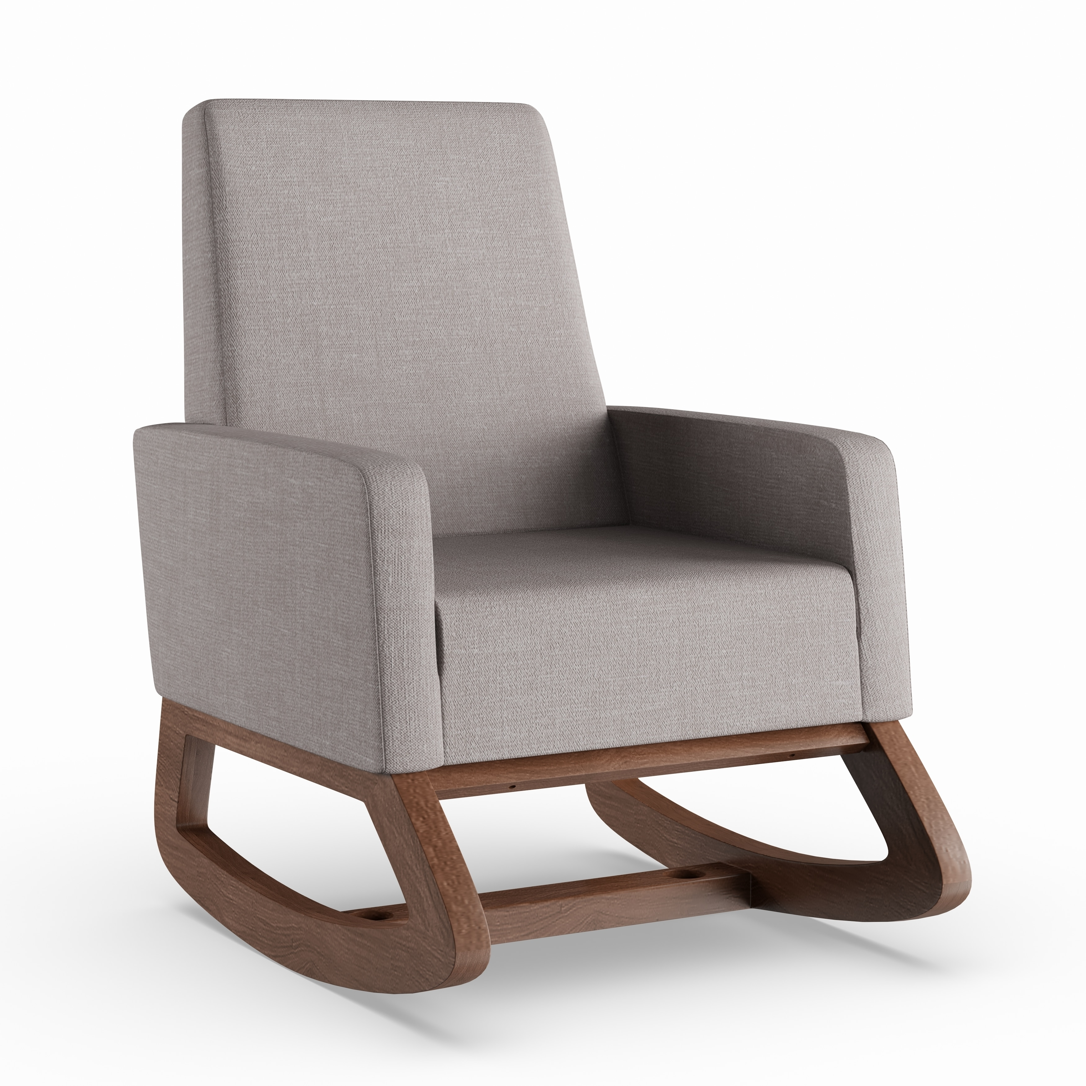 Groovy Carson Carrington Honningsvag Mid Century Modern Grey Upholstered Rocking Chair Creativecarmelina Interior Chair Design Creativecarmelinacom