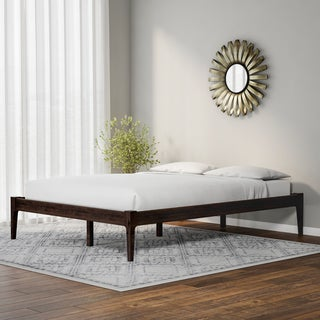 Carson Carrington Boras Mid-century Modern Cappuccino Platform Bed