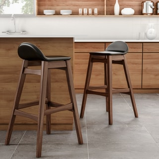 Link to Carson Carrington Nacka Mid-century Modern 30-inch Bar Stool (Set of 2) Similar Items in Dining Room & Bar Furniture