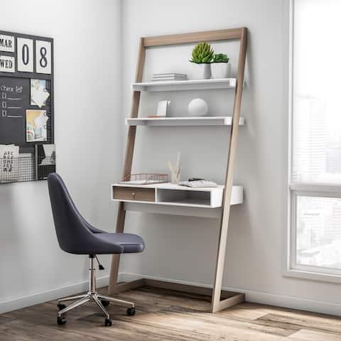 Furniture of America Tali Contemporary 2-tone Leaning Writing Desk