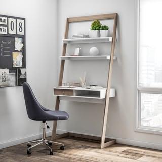 Carson Carrington Jarbo Contemporary 2-tone Lean Desk