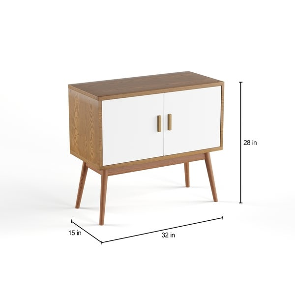 Carson Carrington Odda Wood/ White Storage Console