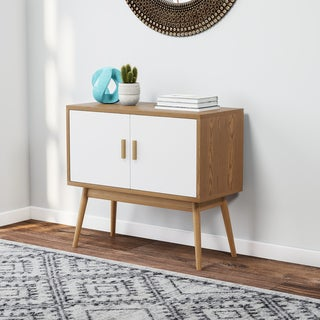 Link to Carson Carrington Odda Wood/ White Storage Console Similar Items in Living Room Furniture