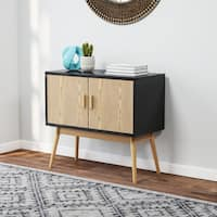 Carson Carrington Odda Wood/ White Storage Console