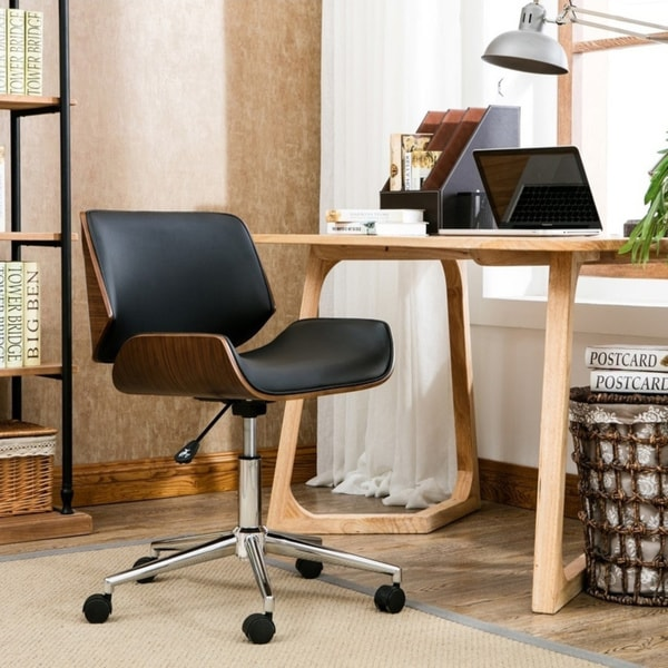 Carson Carrington Herning Wood and Faux-leather Office Chair