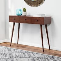Carson Carrington Linkoping Mid-century 3-drawer Wood Console Table