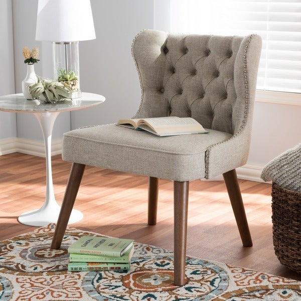 Carson Carrington Rudkobing Mid-century Modern Upholstered Tufted Accent Chair