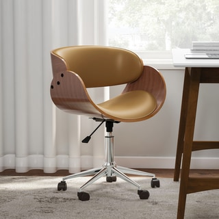 Carson Carrington Gavle White/ Wood Mid-century Office Chair