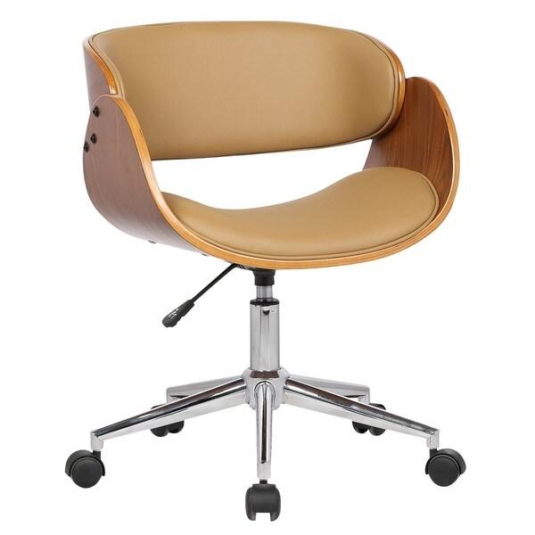 white wooden office chair. Carson Carrington Gavle White/ Wood Mid-century Office Chair White Wooden G