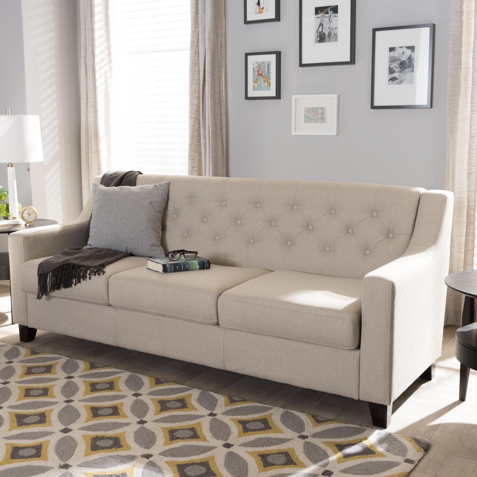 Copper Grove Muir Modern and Contemporary Tufted Sofa   eBay