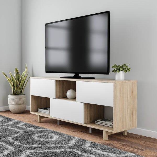 shop carson carrington rovaniemi natural wood 60 inch tv stand free shipping today overstock. Black Bedroom Furniture Sets. Home Design Ideas