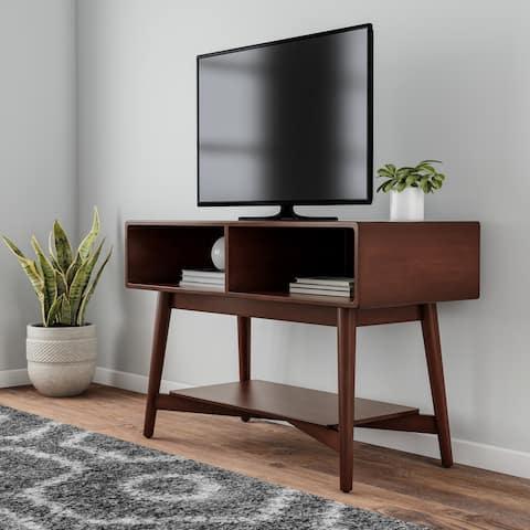 Carson Carrington Dale Mahogany-finish Wood TV Stand